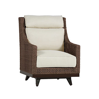 Peninsula Speaker Spring Lounge Chair with Cushions by Summer Classics
