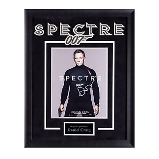 Daniel Craig Signed James Bond Spectre Movie Poster Photo