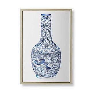 Watercolor Blue Ming Gourd Vase Giclée Print