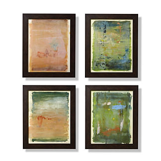 Monoprint Abstract Print Series, Set of Four