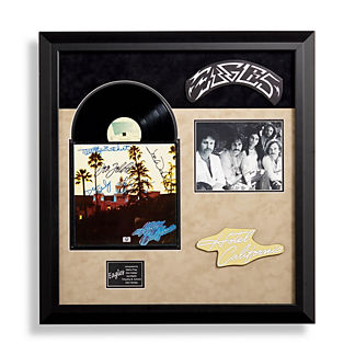 Eagles Signed Hotel California Album Collage