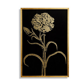Double-flowered Narcissus Gilded Silkscreen Floral Print
