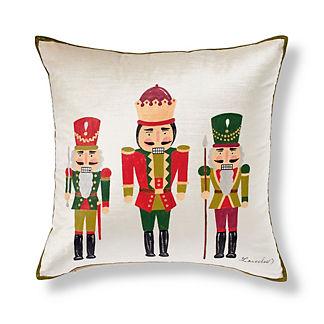 Handpainted Nutcracker Decorative Pillow