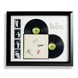 Beatles Autographed The White Album Collage