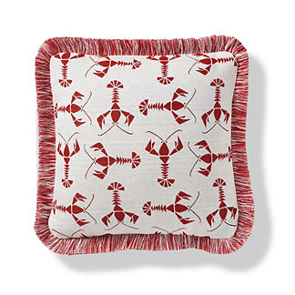 Rock Lobster Indoor/Outdoor Pillow in Garnet