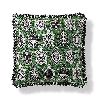 Tortugas Indoor/Outdoor Pillow in Kiwi