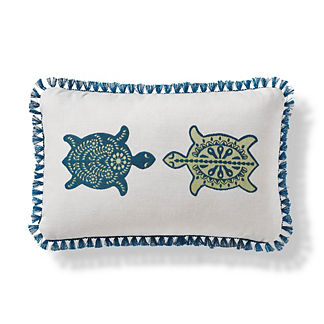 Isla Tortuga Indoor/Outdoor Pillow in Teal