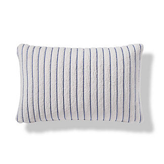 Pinstripe Luxe Indoor/Outdoor Lumbar Pillow in Cobalt