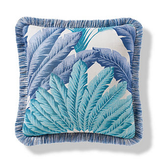 Atherton Palm Coastal Outdoor Pillow