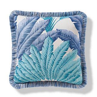 Atherton Palm Coastal Outdoor Pillow