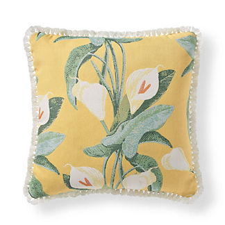Calla Lily Outdoor Pillow in Sunshine