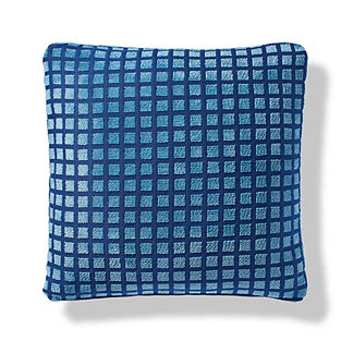 Celso Blocks Indoor/Outdoor Pillow in Cobalt