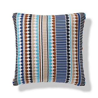 Kuba Stripe Indoor/Outdoor Pillow in Lapis