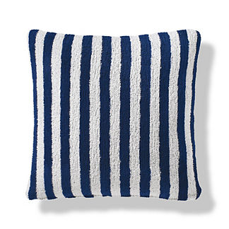 Mahe Stripe Indoor/Outdoor Pillow in Indigo