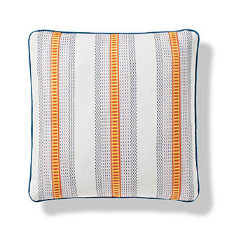 Midway Stripe Indoor/Outdoor Pillow in Sunset