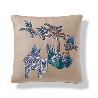 Party Animals Indoor/Outdoor Pillow in Sand