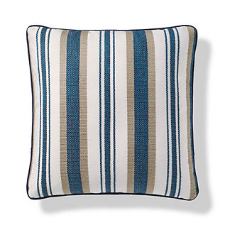Seabrook Stripe Outdoor Pillow in Peacock