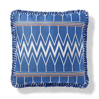 Sidetracked Indoor/Outdoor Pillow in Cobalt