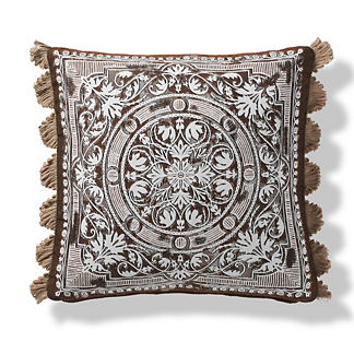 Terracina Indoor/Outdoor Pillow in Mocha