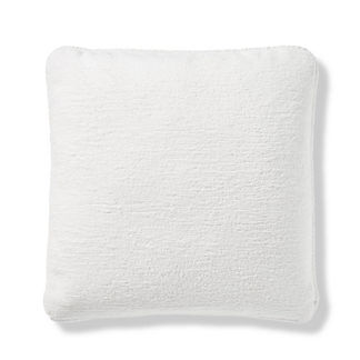 Terry Cloth Piped Indoor/Outdoor Pillow in Salt