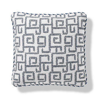 Vine Maze Outdoor Pillow in Indigo