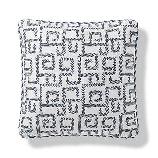 Vine Maze Outdoor Pillow in Indigo