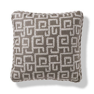 Vine Maze Outdoor Pillow in Shadow