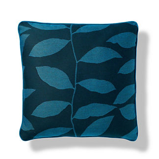 Vine Silhouette Outdoor Pillow in Peacock