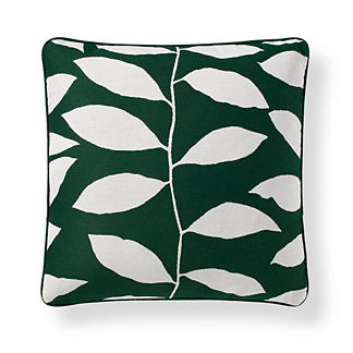 Vine Silhouette Outdoor Pillow in Ivy