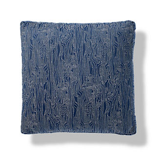 Wavering Lines Indoor/Outdoor Pillow in Indigo