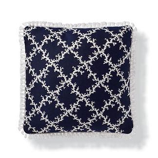 Coral Lattice Indoor/Outdoor Pillow