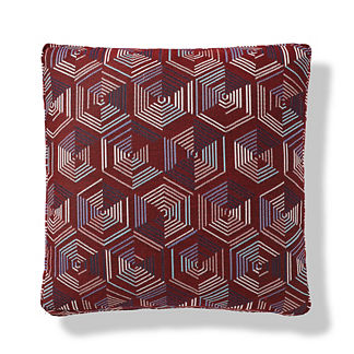 Hexed Nautical Boxed Outdoor Pillow