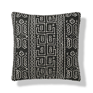 Seydou Boxed Outdoor Pillow in Onyx