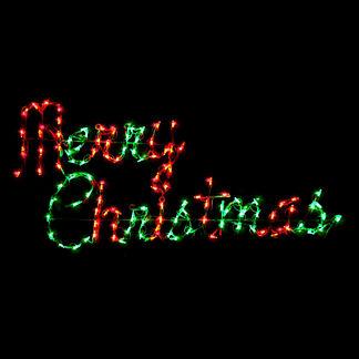 LED Script Merry Christmas