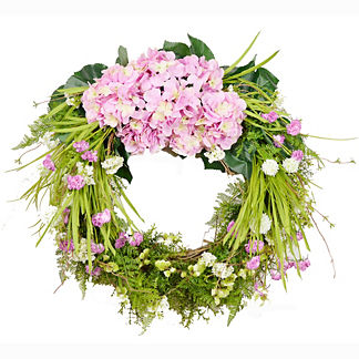 Spring Hydrangea & Carnation Wreath