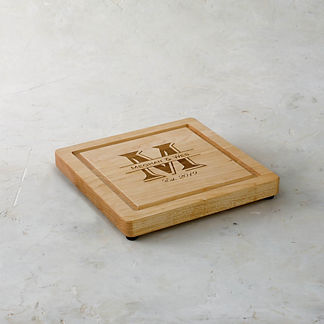Personalized Square Modern Cutting Board