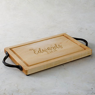 Personalized Rectangular Classic Cutting Board with Name or Phrase