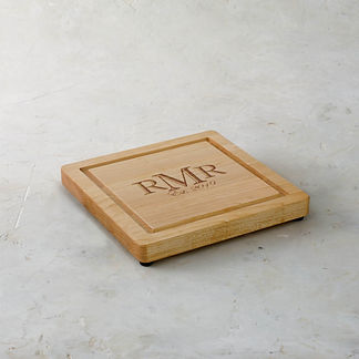 Personalized Square Stepped Cutting Board