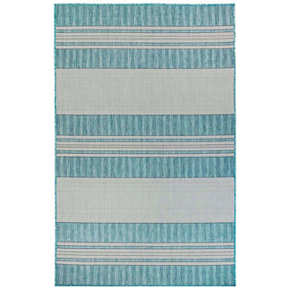 Carmel Variegated Stripe Indoor/Outdoor Rug