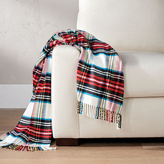 Plaid Fringe Throw by Eastern Accents