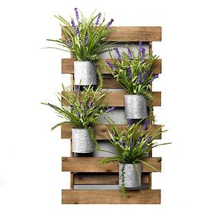 Lavender Fern Wooden Wall Slat