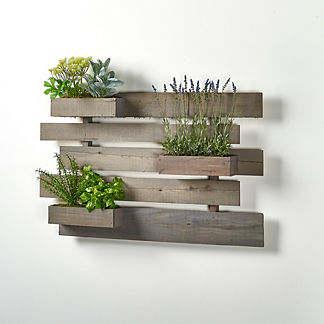 Herbs and Lavender Wooden Wall Slat