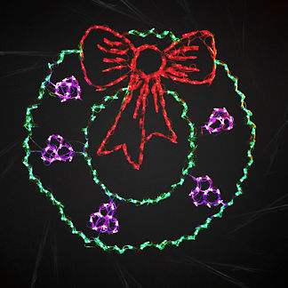 LED Wreath with Berries