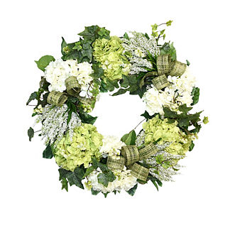 Heather, Hydrangea and Ivy Wreath