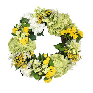Heather, Begonia and Viburnum Wreath