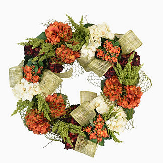 Hydrangea, Kalanchoe and Heather Wreath