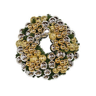 Gold and Silver Ball Wreath