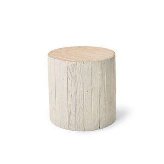 Barrel Wood Side Table Tailored Furniture Cover