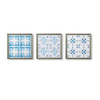Aquarelle Tiles Giclee Prints, Set of Three