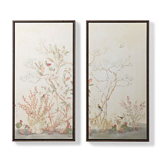 Woodland Giclee Print Diptych on Linen